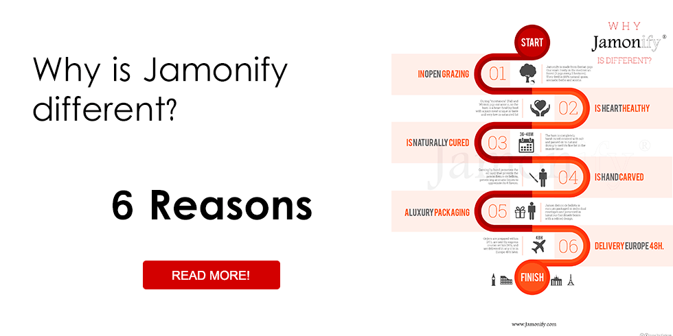 6 Reasons why JAMONIFY is different from any other Gift and any other iberic ham.