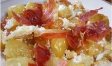 Iberico Acorn Ham with broken fried eggs